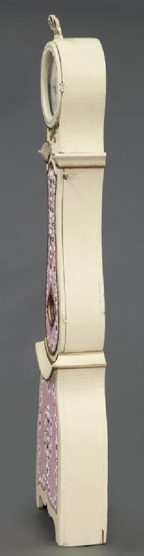 Antique Swedish Mora painted pine tallcase clock - 3