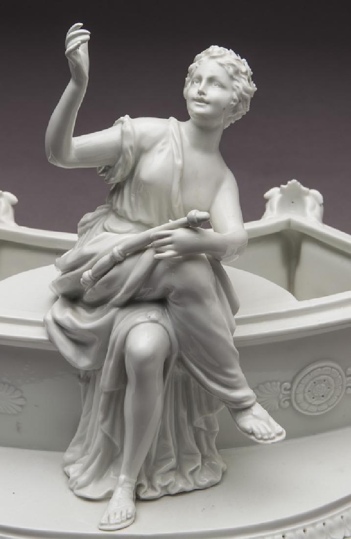 8 Pc. white porcelain figural centerpiece set - 10