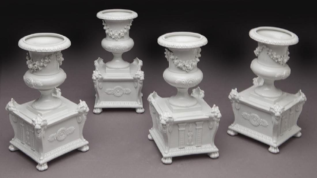 8 Pc. white porcelain figural centerpiece set - 2