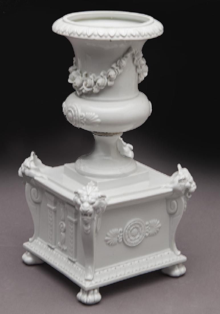 8 Pc. white porcelain figural centerpiece set - 3
