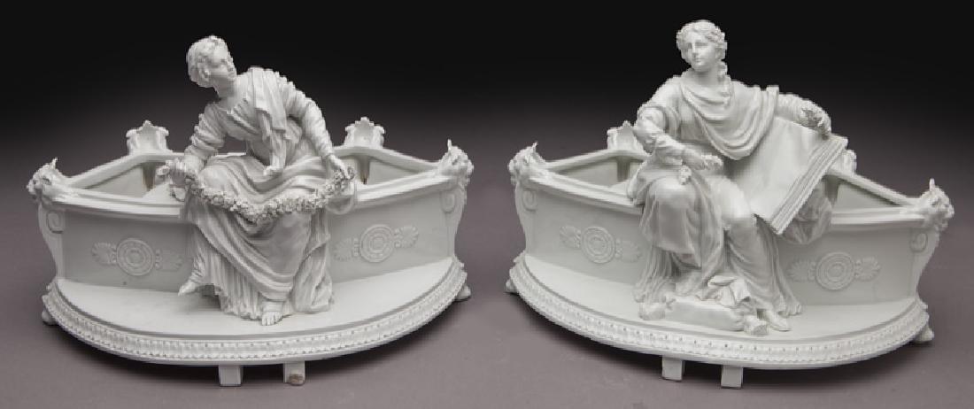 8 Pc. white porcelain figural centerpiece set - 5