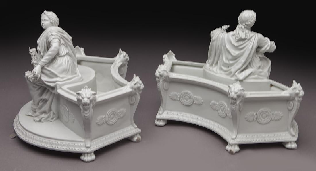 8 Pc. white porcelain figural centerpiece set - 6