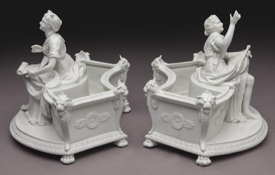 8 Pc. white porcelain figural centerpiece set - 8