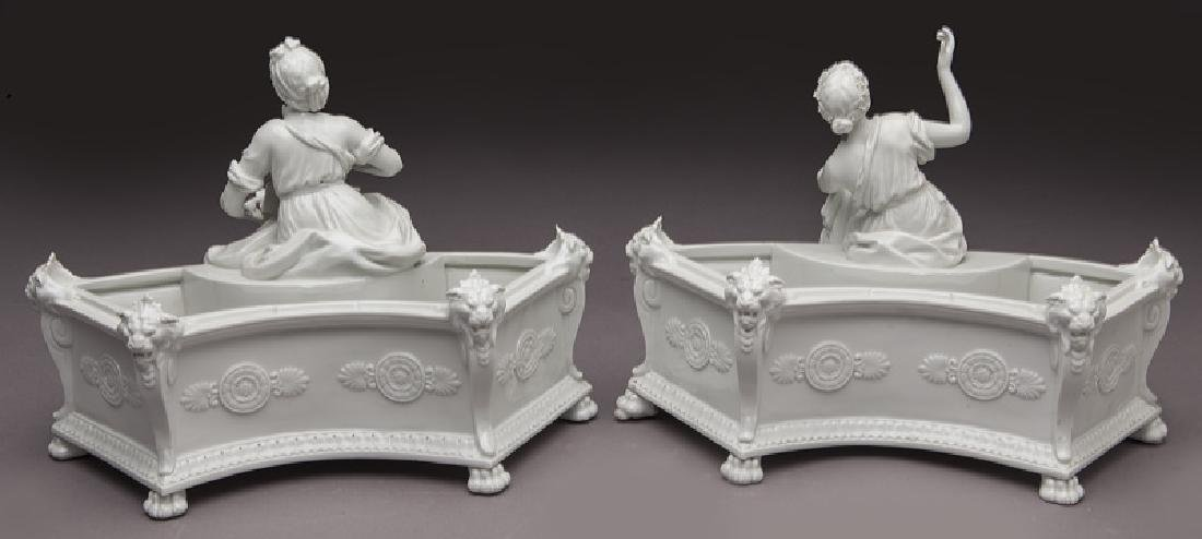 8 Pc. white porcelain figural centerpiece set - 9