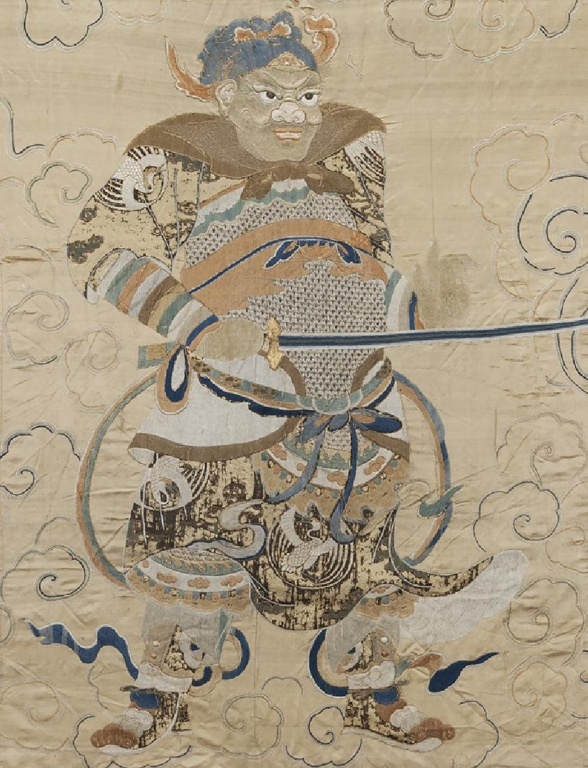 Chinese Ming Dynasty silk embroidery panel - 2