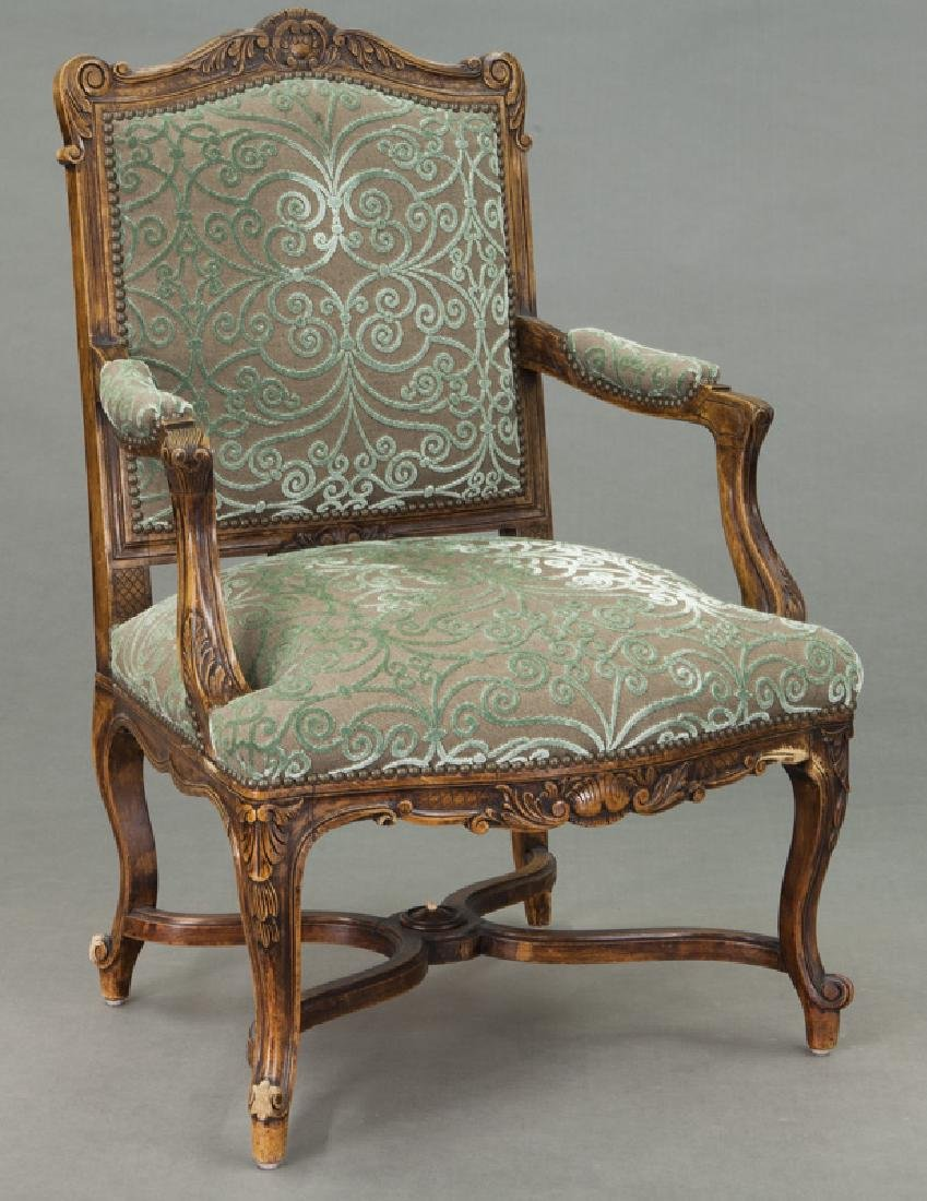 Pr. Regence style carved armchairs - 2