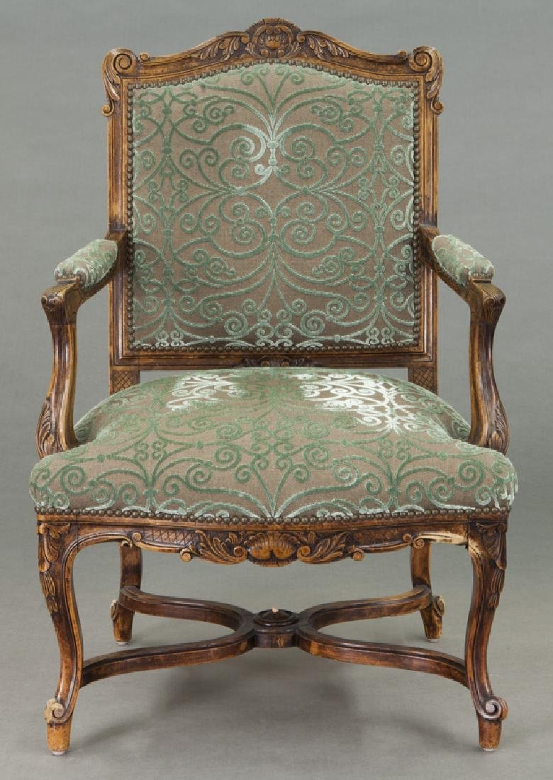 Pr. Regence style carved armchairs - 3