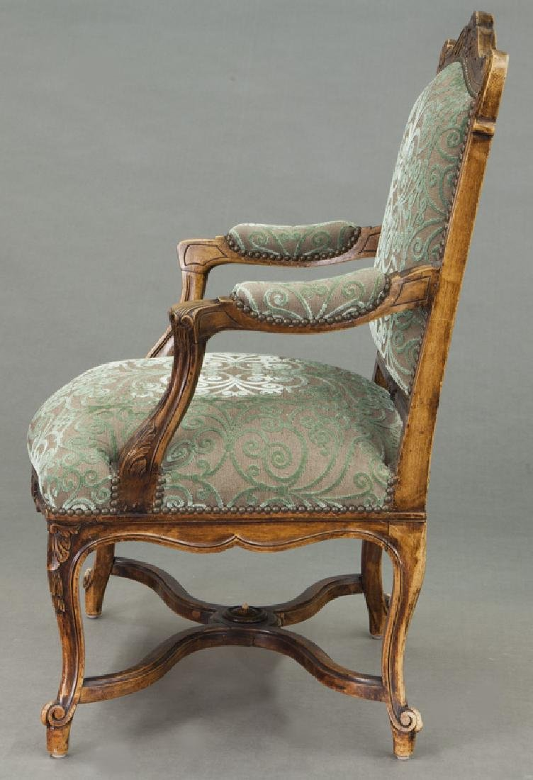 Pr. Regence style carved armchairs - 4