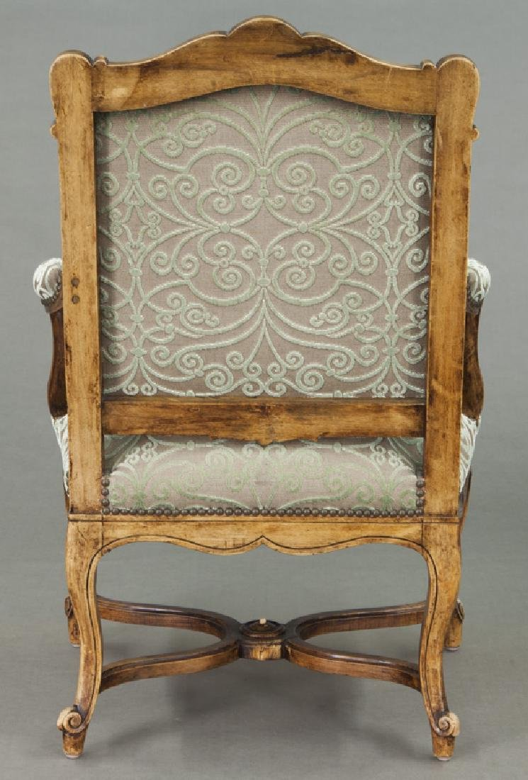Pr. Regence style carved armchairs - 5