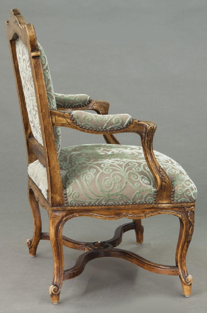 Pr. Regence style carved armchairs - 6