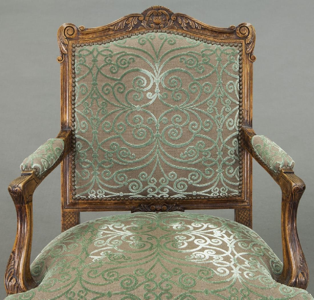 Pr. Regence style carved armchairs - 7
