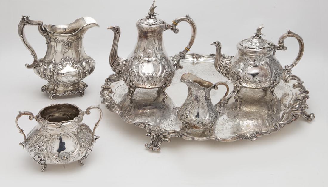 4 Pc. silverplate tea and coffee service,