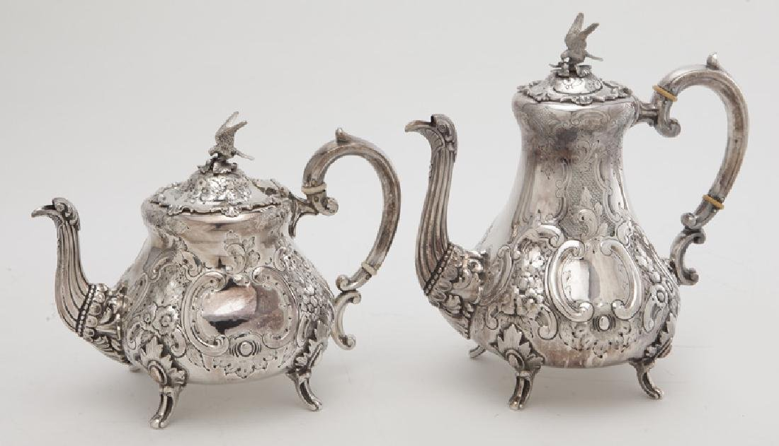 4 Pc. silverplate tea and coffee service, - 3