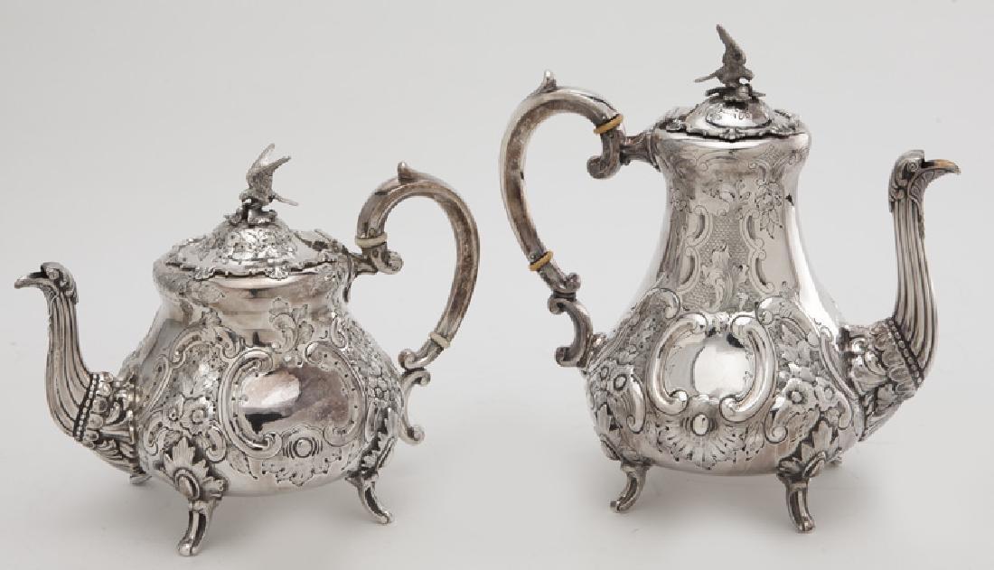 4 Pc. silverplate tea and coffee service, - 5