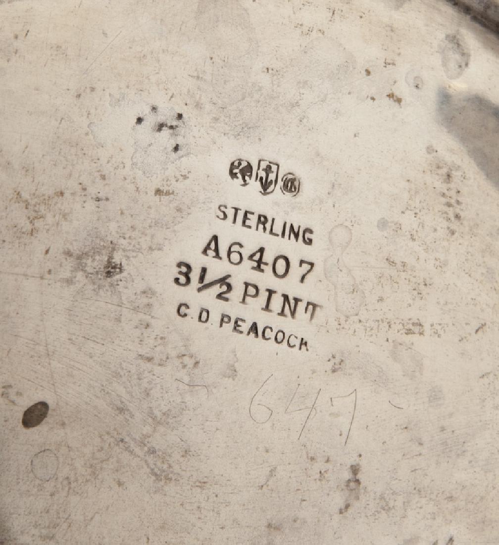 4 Pc. silverplate tea and coffee service, - 9