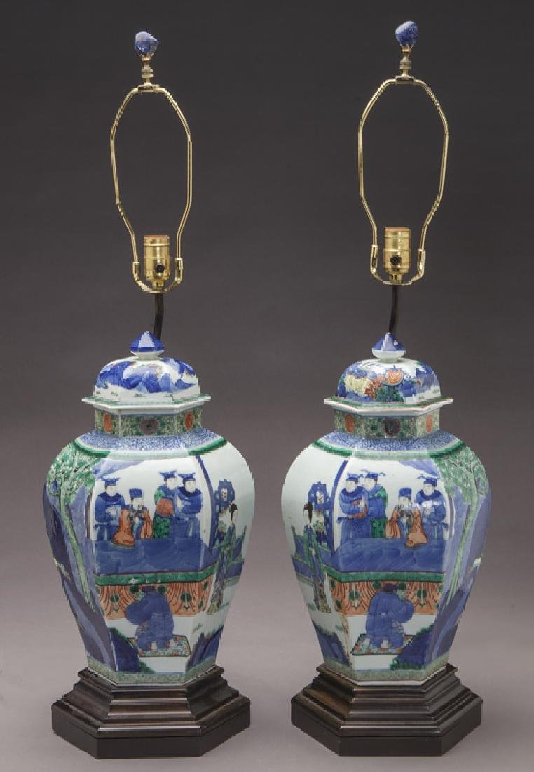 Pr. Chinese Qing cobalt blue and wucai porcelain - 2