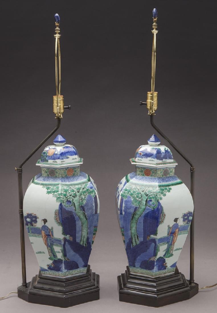 Pr. Chinese Qing cobalt blue and wucai porcelain - 3