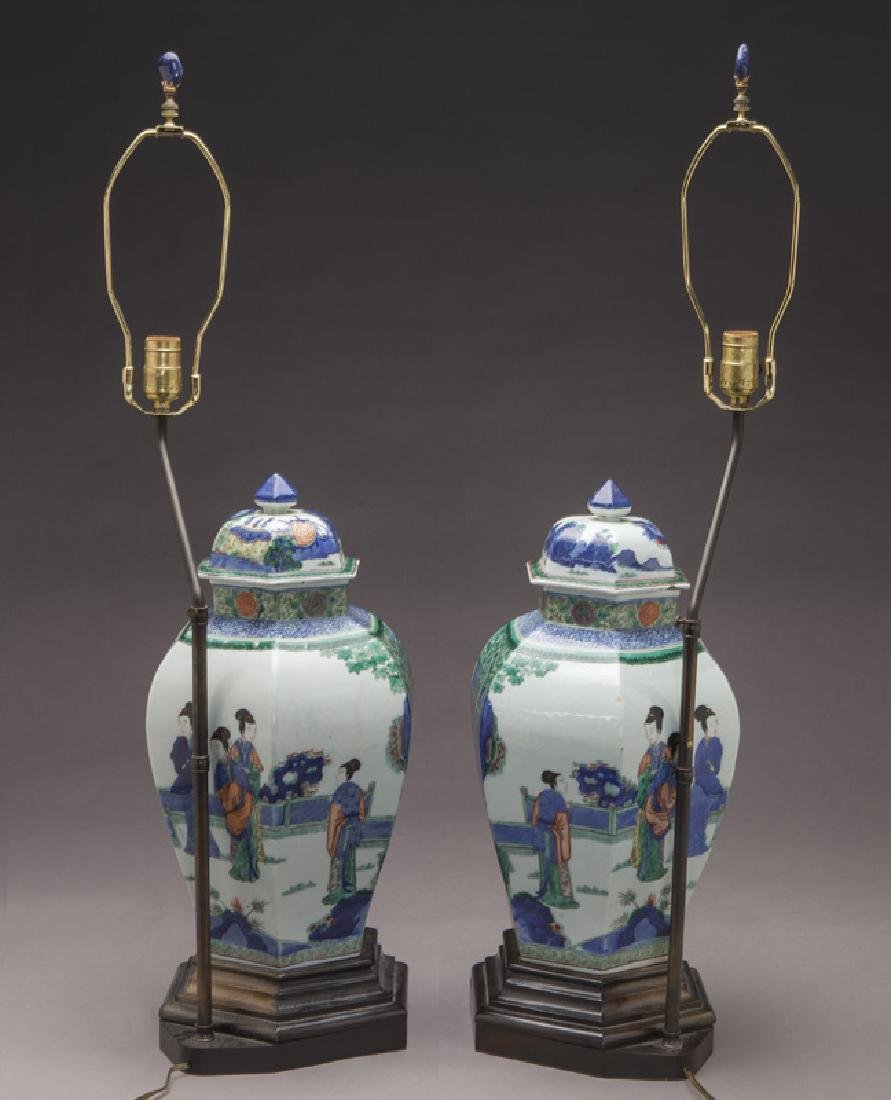 Pr. Chinese Qing cobalt blue and wucai porcelain - 4