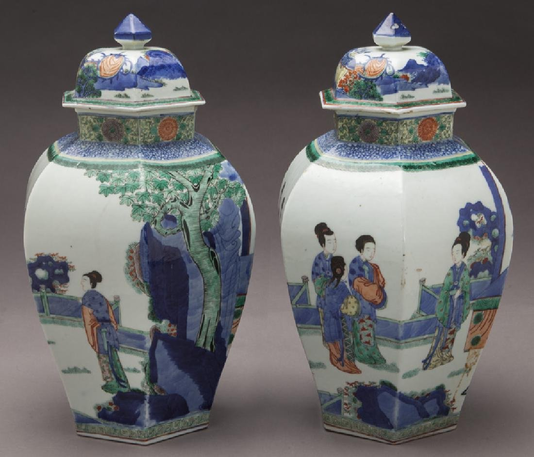 Pr. Chinese Qing cobalt blue and wucai porcelain - 6