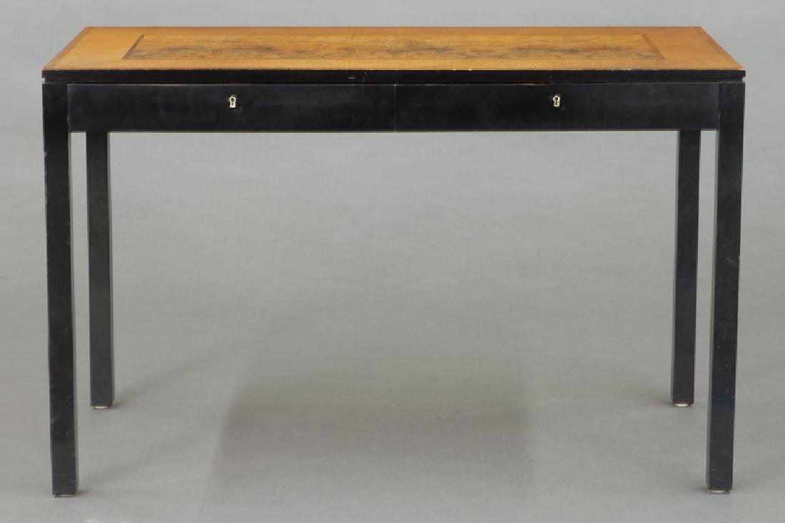 Swedish mid-century two drawer desk - 2