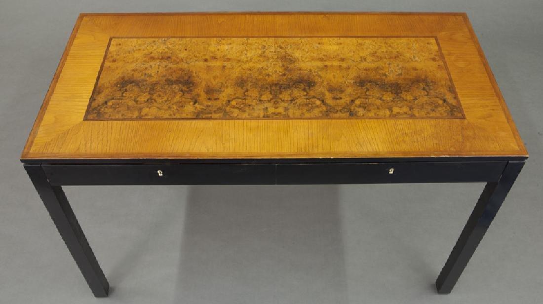 Swedish mid-century two drawer desk - 6