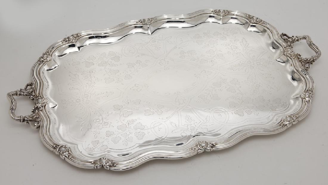 (8) Sterling silver & silver plate serving pieces - 10