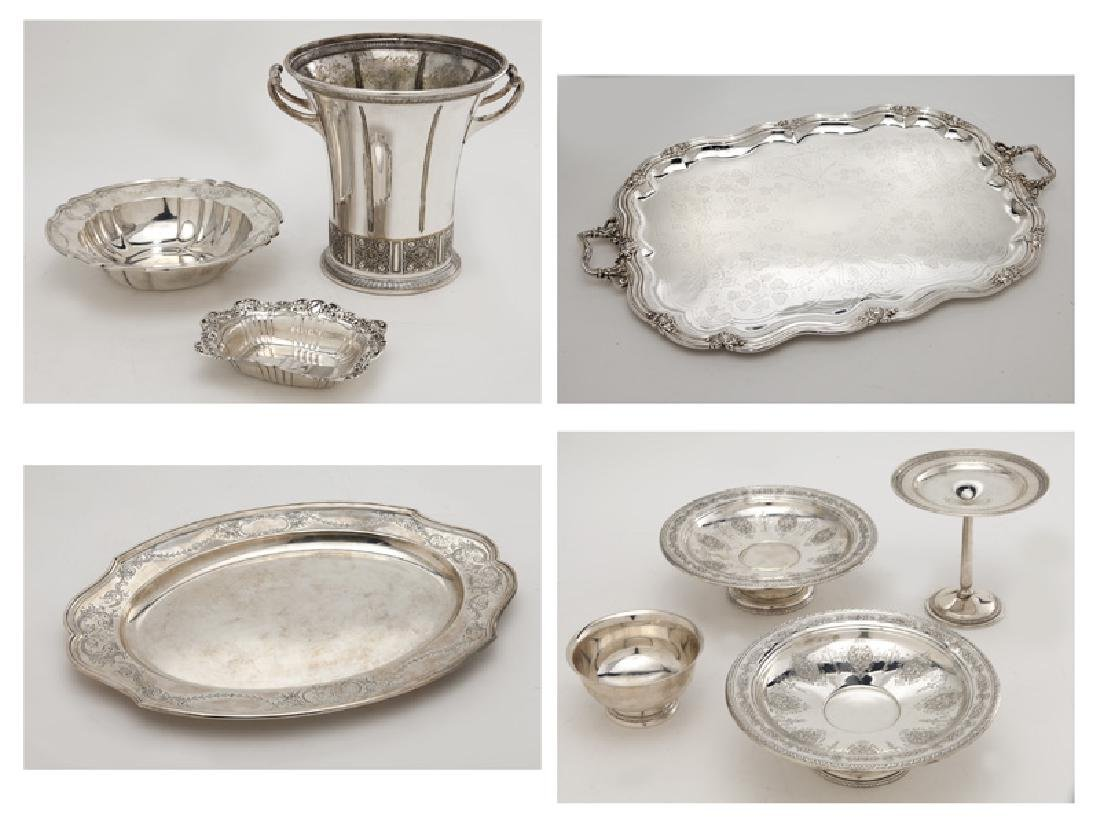 (8) Sterling silver & silver plate serving pieces