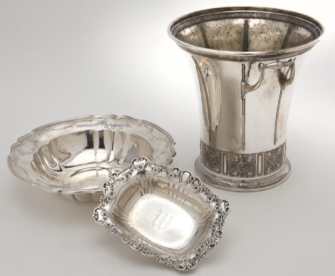 (8) Sterling silver & silver plate serving pieces - 3