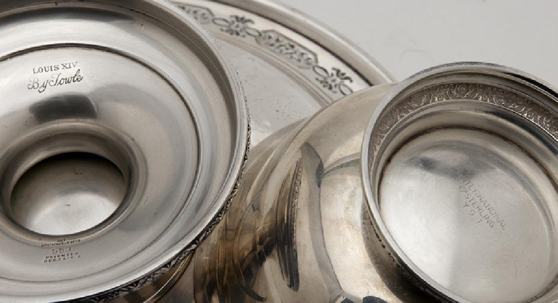 (8) Sterling silver & silver plate serving pieces - 9