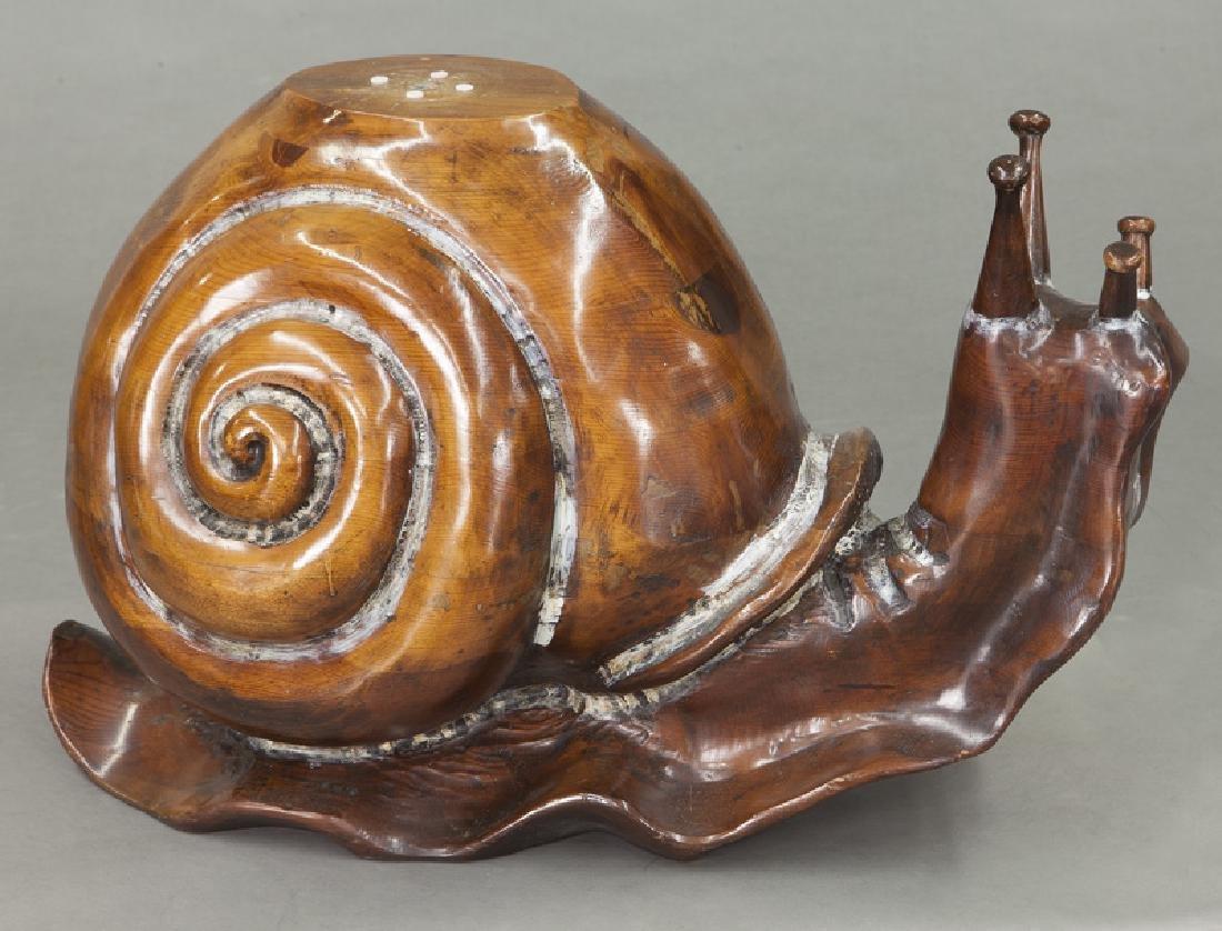 Frederico Armijo carved pine snail-form table - 7