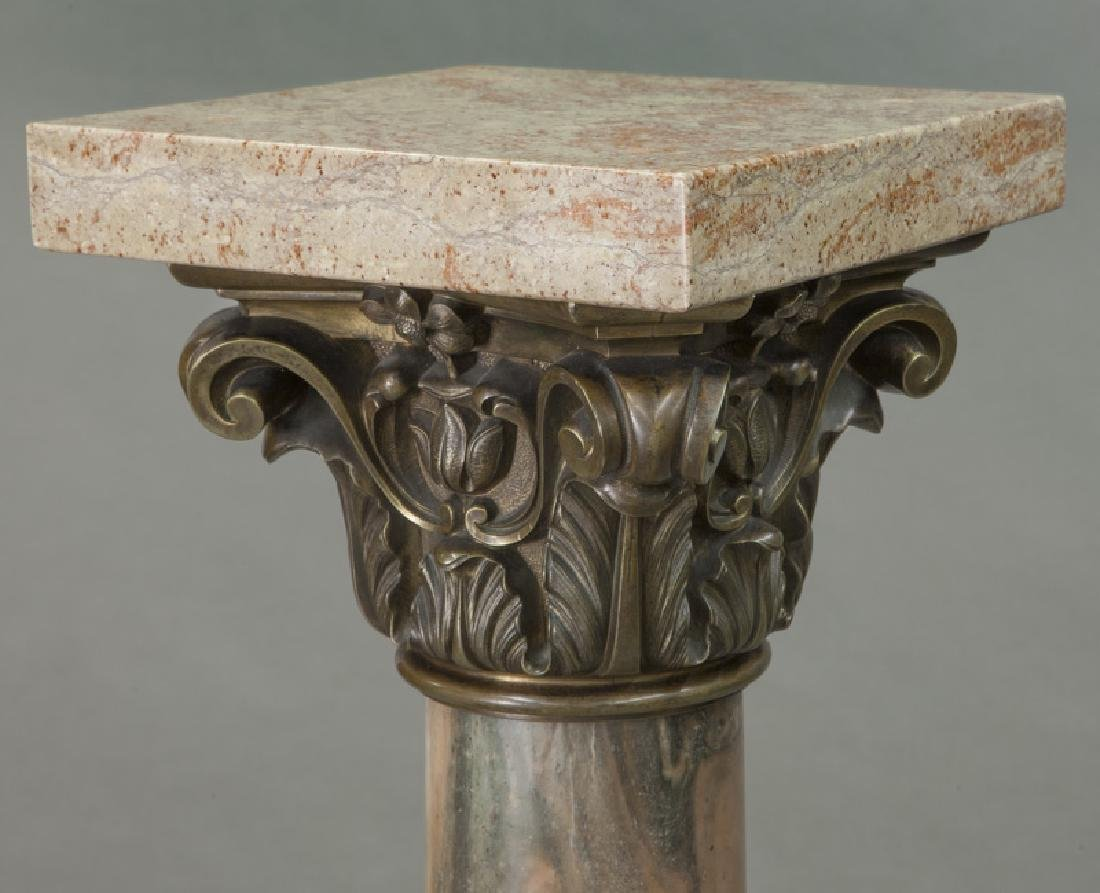 Pr. of bronze mounted marble display pedestals - 6