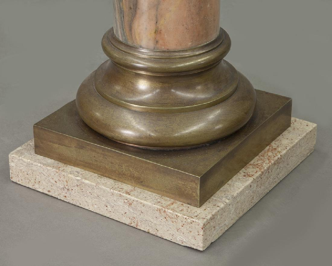 Pr. of bronze mounted marble display pedestals - 7