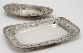 (2) American sterling silver bread trays, incl.