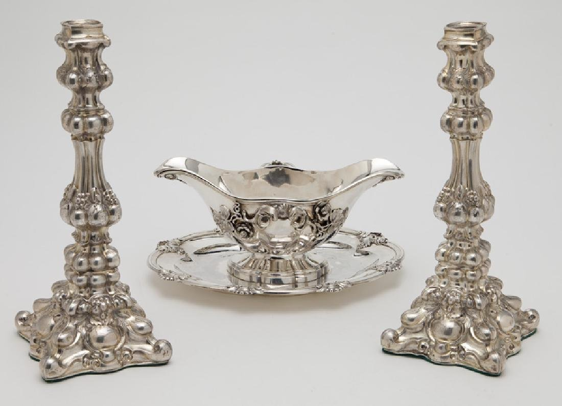 3 Pcs. of antique silver including: