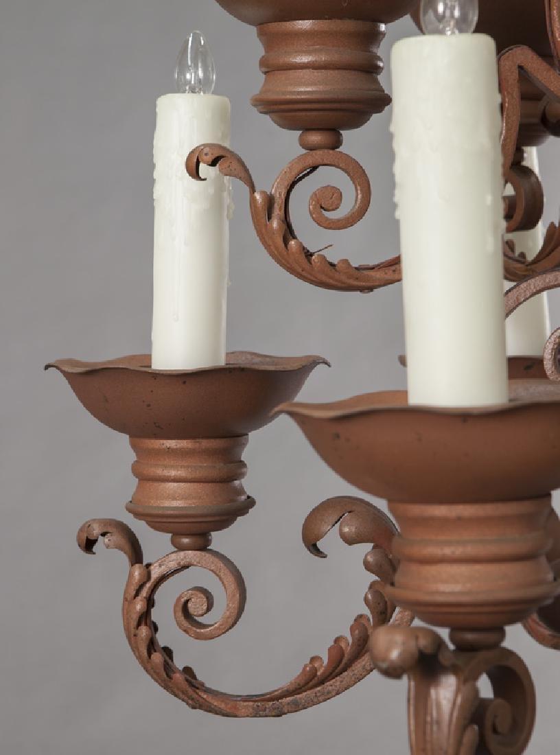 Iron 12-light chandelier, - 7
