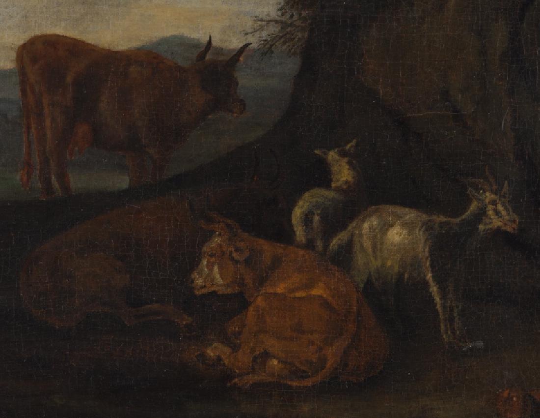 """Pieter van Bloemen """"Untitled (Pastoral scene)"""" oil - 3"""