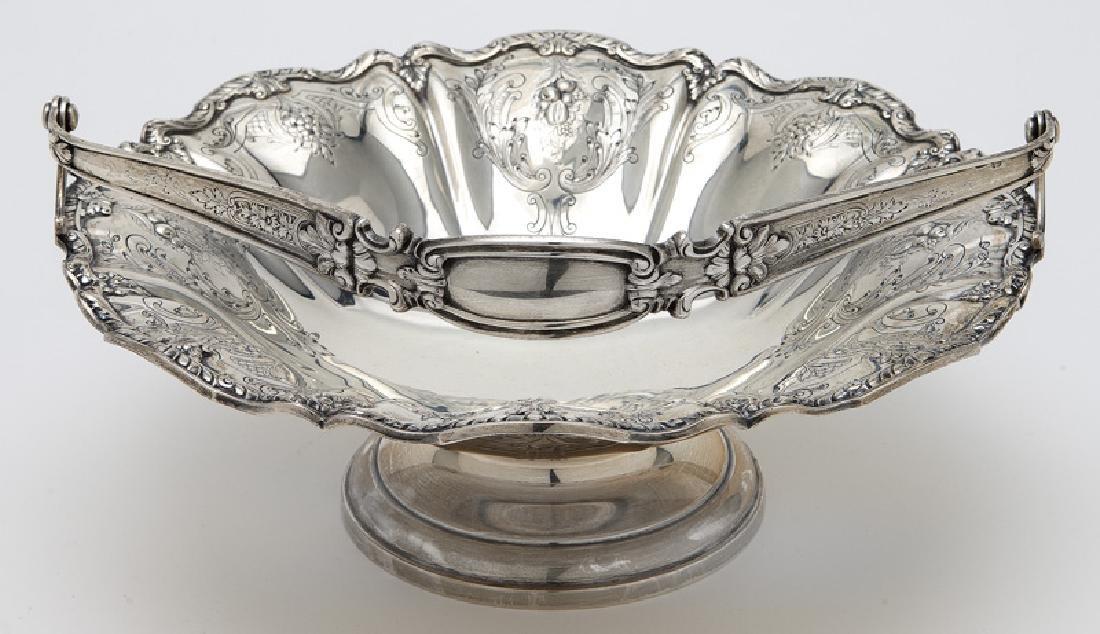 Gorham sterling silver fruit basket with handle, - 3