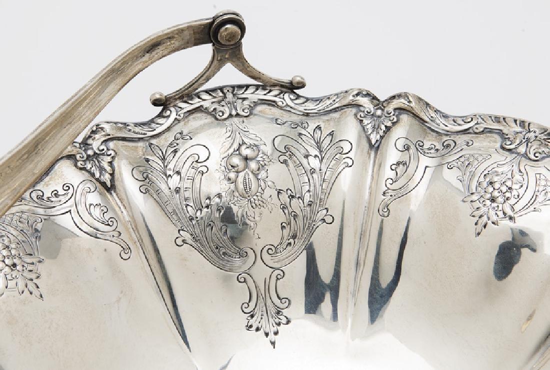 Gorham sterling silver fruit basket with handle, - 7