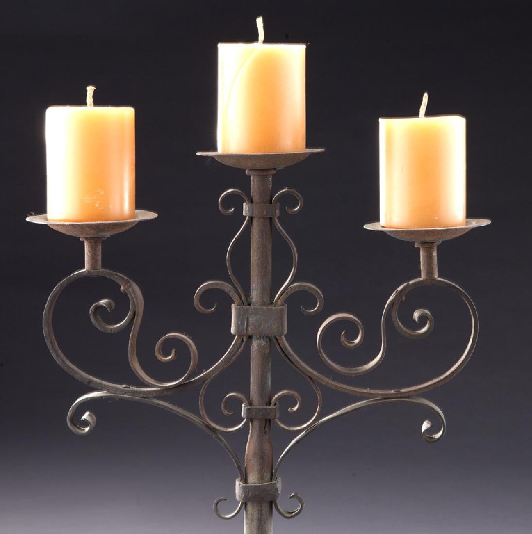 Pair of Italian wrought iron candelabra - 5