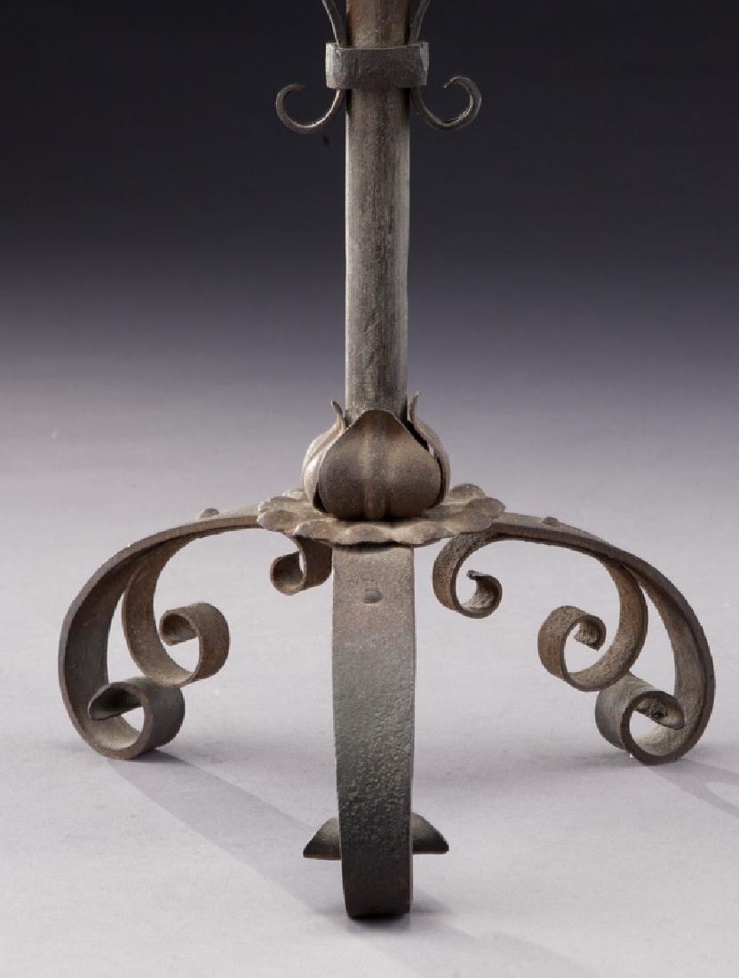 Pair of Italian wrought iron candelabra - 6