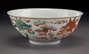 Chinese Qing Guangxu famille rose bowl