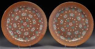 Pr. Chinese famille rose porcelain plates,
