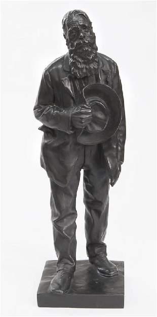 """Anton van Wouw """"Leemans, the Postman"""" bronze with"""