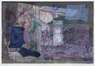 """Kathleen Sidwell """"Dancing with Jesse"""" monoprint,"""