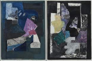 (2) Kathleen Sidwell, monoprints, 1991.
