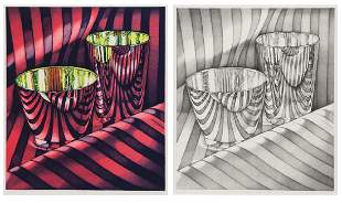 (2) Jeanette Pasin Sloan, lithographs.