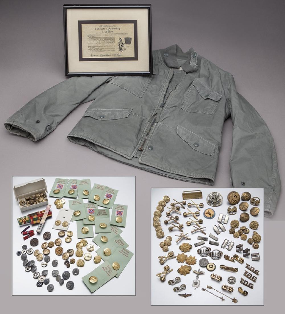 Various military insignia,