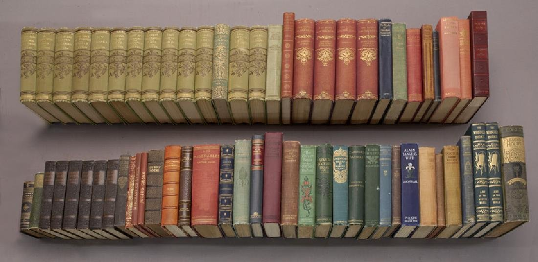 (64) Leather and cloth bound volumes
