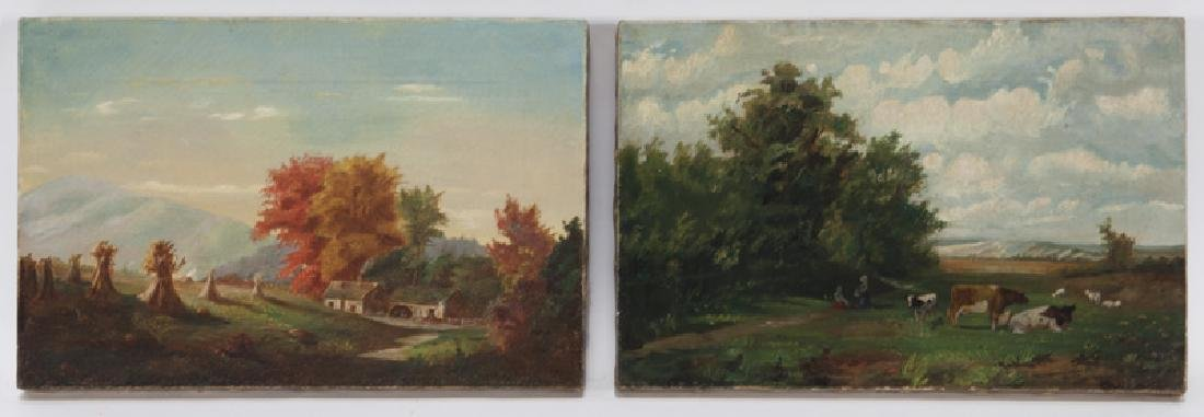 Pr. 19th Century oil on canvas works, one