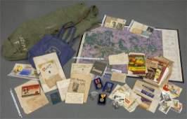United States WWII ephemera group.